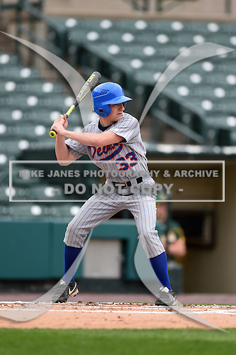 Attica Blue Devils vs Alexander Trojans Junior Varsity baseball at Frontier Field on May 12, 2014 in Rochester, New York.  (Copyright Mike Janes Photography)