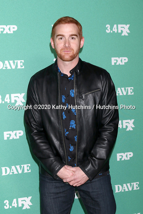 """LOS ANGELES - FEB 27:  Andrew Santino at the """"Dave"""" Premiere Screening from FXX at the DGA Theater on February 27, 2020 in Los Angeles, CA"""