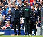 Pedro Caixinha with fourth official Kevin Clancy