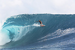 French Polynesia Tahiti Chopu waves & surfers