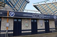 General view of the turnstile entrance for 'The Dockers Stand' at Millwall FC during Millwall vs Barnsley, Emirates FA Cup Football at The Den on 6th January 2018