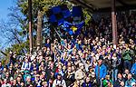 Uppsala 2014-05-01 Fotboll Svenska Cupen IK Sirius - IF Elfsborg :  <br /> Sirius supportrar med flaggor<br /> (Foto: Kenta J&ouml;nsson) Nyckelord:  Svenska Cupen Cup Semifinal Semi Sirius IKS Elfsborg IFE supporter fans publik supporters