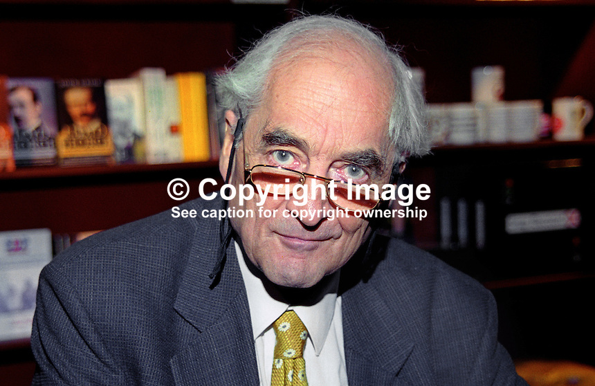 Conrad Russell, aka Lord Russell, historian, politician, son of Bertrand Russell, pictured at Liberal Democrat annual conference, September 1999. 199909032<br />