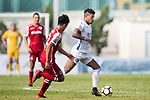 Bruno da Silva Sabino R&F F.C (R) in action against Wang Fung Hui of Kwoon Chung Southern (L) during the week three Premier League match between Kwoon Chung Southern and R&F at Aberdeen Sports Ground on September 16, 2017 in Hong Kong, China. Photo by Marcio Rodrigo Machado / Power Sport Images