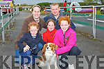 KING CHARLES: having a stroll around the Kingdom County Fair Ground, Ballbeggan Racecourse on Sunday with their king charles Jack were, Emma,Rebecca,Laura, Tom and Karen Daly, (Ballymacelligott).