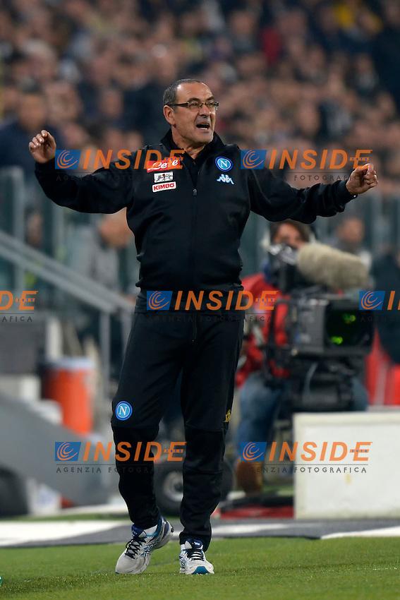 Maurizio Sarri Napoli <br /> Torino 29-10-2016 Juventus Stadium Football Calcio Serie A 2016/2017 Juventus - Napoli . Foto Filippo Alfero Insidefoto