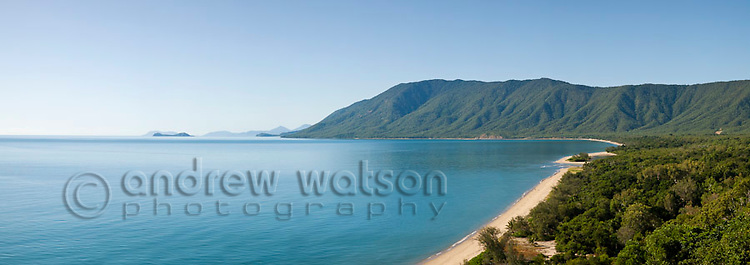 View along Wangetti Beach from Rex's Lookout near Cairns, Queensland, Australia