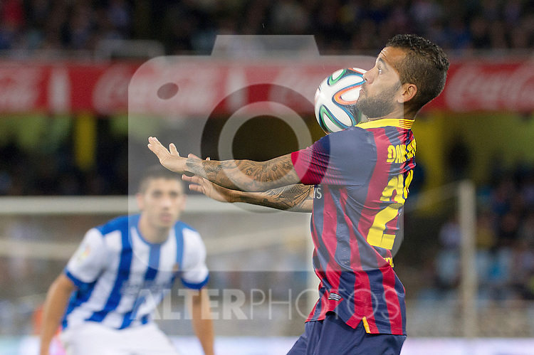 FC Barcelona's Daniel Alves during La Copa match.February 12,2014. (ALTERPHOTOS/Mikel)