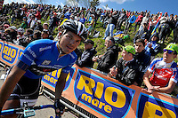 ITALIA. 31-05-2014. Julian David Arredondo  -Col- (Trek) durante su participación en la etapa 20 entre  Maniago y Monte Zoncolan con una distancia de 167 Km en la versión 97 del Giro de Italia hoy 22 de mayo de 2014. /Julian David Arredondo  -Col- (Trek) during his participation on the 20th stage between Maniago and Monte Zoncolan with a distance of 167 km in the 97th version of Giro d'Italia today May 22th 2014 Photo: VizzorImage/ Marco Alpozzi / LaPresse<br /> VizzorImage PROVIDES THE ACCESS TO THIS PHOTOGRAPH ONLY AS A PRESS AND EDITORIAL SERVICE AND NOT IS THE OWNER OF COPYRIGHT; ANOTHER USE HAVE ADDITIONAL PERMITS AND IS  REPONSABILITY OF THE END USER