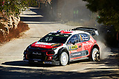 6th October 2017, Costa Daurada, Salou, Spain; FIA World Rally Championship, RallyRACC Catalunya, Spanish Rally; Stephane Lefebvre and his co-driver Gabin Moreau of France compete in their Citroen C3 WRC Total Abu Dhabi WRT during the Terra Alta Stage
