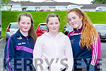 Molly Whelan, Chloe Whelan and Ava Griffin at the Faha NS fun run in Fossa on Sunday