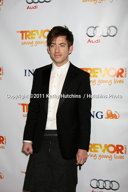 "LOS ANGELES - DEC 4:  Kevin McHale arrives at ""The Trevor Project's 2011 Trevor Live!"" at Hollywood Palladium on December 4, 2011 in Los Angeles, CA"