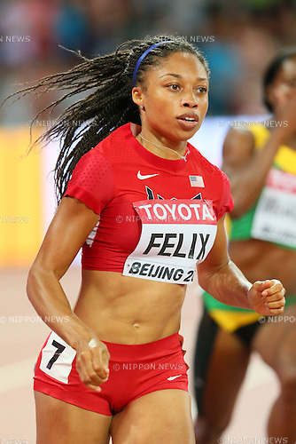 Allyson Felix (USA), AUGUST 25, 2015 - Athletics : 15th IAAF World Championships in Athletics Beijing 2015 Women's 400m Semi-Final at Beijing National Stadium in Beijing, China. (Photo by YUTAKA/AFLO SPORT)