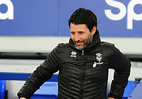 Lincoln City manager Danny Cowley during the pre-match warm-up<br /> <br /> Photographer Andrew Vaughan/CameraSport<br /> <br /> Emirates FA Cup Third Round - Everton v Lincoln City - Saturday 5th January 2019 - Goodison Park - Liverpool<br />  <br /> World Copyright &copy; 2019 CameraSport. All rights reserved. 43 Linden Ave. Countesthorpe. Leicester. England. LE8 5PG - Tel: +44 (0) 116 277 4147 - admin@camerasport.com - www.camerasport.com