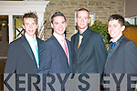 DEB BOYS: Having a great time at the St Brendan's College, Killarney Debs Ball at the Earl of Desmond hotel on Friday l-r: Evan O'Donoghue, Donal O'Donovan, Stephen O'Donoghue and Aaron O'Carroll.