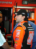 Feb 9, 2008; Daytona, FL, USA; Nascar Sprint Cup Series driver Tony Stewart during practice for the Daytona 500 at Daytona International Speedway. Mandatory Credit: Mark J. Rebilas-US PRESSWIRE
