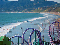 "Pacific, Park, Pier, Santa Monica, CA, amusement, park,  New, Ferris wheel, Roller Coaster, pacific ocean, Unique, Fun, ""Santa Monica Pier"""