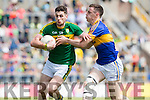 Paul Geaney Kerry in Action against Alan Campbell Tipperary in the Senior Munster Football Final at Fitzgerald Stadium, Killarney on Sunday.
