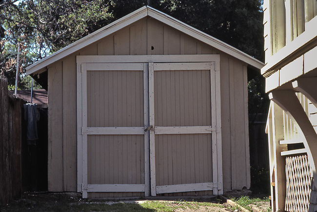 Original garage used by Bill Hewlett and David Packard in Palo Alto, Ca.  Photo take in 1985