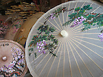 Meinong, Taiwan -- Chinese hand-made oil paper umbrellas of different sizes.