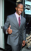 NEW YORK, NY - July 17, 2012: Victor Cruz of The NY Giants at Good Morning America studios in New York City. &copy; RW/MediaPunch Inc. *NORTEPHOTO*<br />