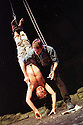Paul Lloyd,Peter McDonald in THe Lieutenant of Inishmore opens at the Garrick Theatre on 26/6/02  pic Geraint Lewis