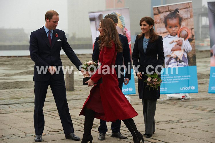 **ALL ROUND PICTURES FROM SOLARPIX.COM**                                             **UK AND SPAIN SYNDICATION RIGHTS ONLY**                                                                                  Caption: Prince William, Duchess of Cambridge Catherine (Kate) & Crown Prince Frederik and Crown Princess Mary visiting UNICEF's Supply Division center in Denmark to view the effort to distribute emergency food and medical supplies to East Africa                                                                              This pic: Prince William & kate & Prince Frederik & Princess Mary                                                                                          JOB REF:14141        CPR/Kongsted      DATE: 02.11.2011                                                           **MUST CREDIT SOLARPIX.COM OR DOUBLE FEE WILL BE CHARGED**                                                                      **MUST AGREE FEE BEFORE ONLINE USAGE**                               **CALL US ON: +34 952 811 768 or LOW RATE FROM UK 0844 617 7637**