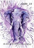 Simon, REALISTIC ANIMALS, REALISTISCHE TIERE, ANIMALES REALISTICOS, paintings+++++KatherineW_SplatterElephant,GBWR18,#a#, EVERYDAY