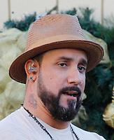 11 NOVEMBRE 2012 - LOS ANGELES - ETATS-UNIS -AJ MCLEAN A.J. MCCLEAN EN REPETITION POUR LEUR PERFORMANCE LORS DE L'ILLUMINATION DE L' ARBRE DE NOEL DE THE GROVE (KDENA/NortePhoto)