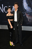 LOS ANGELES, CA. October 01, 2018: Jenna Ortega &amp; Asher Angel at the world premiere for &quot;Venom&quot; at the Regency Village Theatre.<br /> Picture: Paul Smith/Featureflash