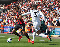 Bournemouth's Nathan Ake (left) under pressure from  Fulham's Ryan Sessegnon (right) <br /> <br /> Photographer David Horton/CameraSport<br /> <br /> The Premier League - Bournemouth v Fulham - Saturday 20th April 2019 - Vitality Stadium - Bournemouth<br /> <br /> World Copyright © 2019 CameraSport. All rights reserved. 43 Linden Ave. Countesthorpe. Leicester. England. LE8 5PG - Tel: +44 (0) 116 277 4147 - admin@camerasport.com - www.camerasport.com