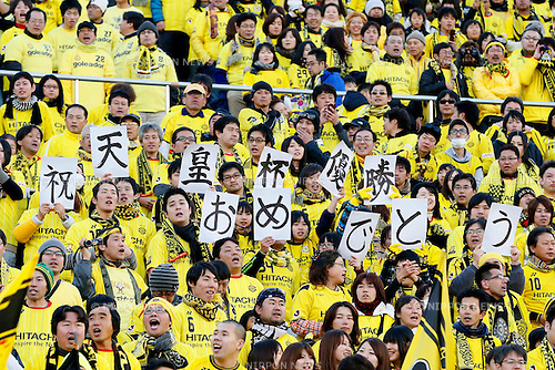 Kashiwa Reysol fans, JANUARY 1, 2013 - Football / Soccer : The 92nd Emperor's Cup Final match between Gamba Osaka 0-1 Kashiwa Reysol at National Stadium, Tokyo, Japan. (Photo by AFLO SPORT)