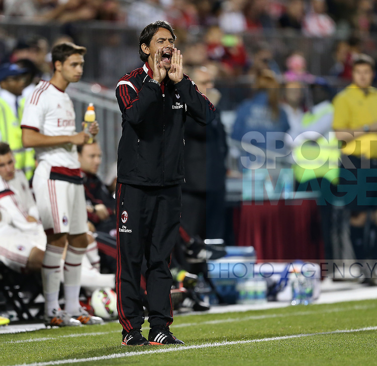 AC Milan's Filippo Inzaghi looks on dejected<br /> <br /> - International Champions Cup 2014 - Olympiacos vs AC Milan - BMO Field - Toronto - Canada -24th July 2014 - Picture David Klein/Sportimage