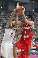 USA's Derrick Rose (l) and Mexico's Jorge Gutierrez during 2014 FIBA Basketball World Cup Round of 16 match.September 6,2014.(ALTERPHOTOS/Acero)