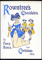 BNPS.co.uk (01202 558833)<br /> Pic: Nestle/BNPS<br /> <br /> ***Please use full byline***<br /> <br /> An advert from 1904<br /> <br /> A fascinating archive of vintage selection boxes have emerged to reveal how the common stocking filler was once a luxurious present that families would save all year for.<br /> <br /> The assorted chocolate packs were launched by Rowntrees in the 1920s after the success of their Christmas hampers.<br /> <br /> They were considered as extremely extravagant gifts with an early box from 1927 costing 10 shillings, the equivalent of one weeks rent for a poor, working class family.<br /> <br /> The boxes contained some of the first chocolate bars invented by the company that are no longer in existance, including Nut Cracknel, Cream Tablette, and Motoring bars.<br /> <br /> Families began putting aside money throughout the year to afford the must-have gifts, which became more extravagant as their popularity grew.<br /> <br /> Rowntrees provided newsagents and grocery shops with special Christmas Club Cards which buyers used to pay weekly installments towards the selection boxes.<br /> <br /> In the 1930s Rowntrees began adding novelty items to the packs such as vases, carriage clocks, and cutlery sets, which acted as keepsakes once the chocolate had been eaten.<br /> <br /> They ranged in price from 2 shillings and six pence up to 10 shillings depending on the size of the enclosed gift.