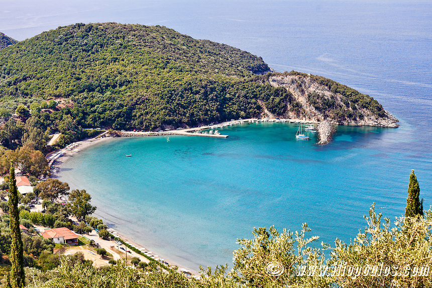 Arilla beach in Perdika, Greece
