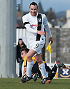 Ayr Utd's Michael Moffat (9) celebrates after he scores their second goal.