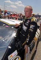 Apr 28, 2007; Talladega, AL, USA; Nascar Nextel Cup Series driver Regan Smith (01) during qualifying for the Aarons 499 at Talladega Superspeedway. Mandatory Credit: Mark J. Rebilas