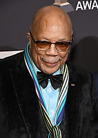 09 February 2019 - Beverly Hills, California - Quincy Jones. The Recording Academy And Clive Davis' 2019 Pre-GRAMMY Gala held at the Beverly Hilton Hotel.   <br /> CAP/ADM/BT<br /> &copy;BT/ADM/Capital Pictures