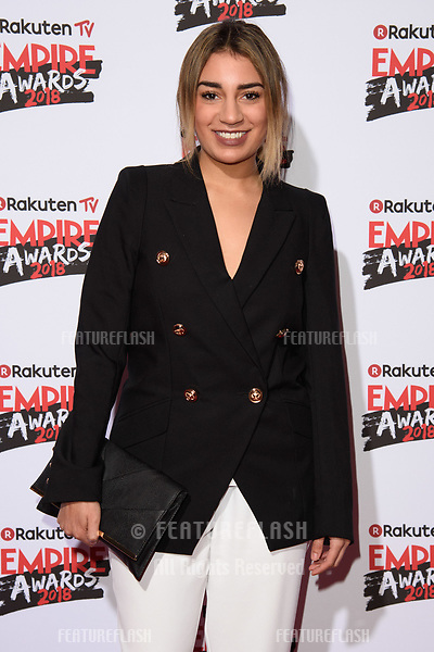 Lucie Shorthouse arriving for the Empire Awards 2018 at the Roundhouse, Camden, London, UK. <br /> 18 March  2018<br /> Picture: Steve Vas/Featureflash/SilverHub 0208 004 5359 sales@silverhubmedia.com