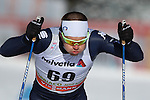 Michael Hellweger in action at the sprint qualification of the FIS Cross Country Ski World Cup  in Dobbiaco, Toblach, on January 14, 2017. Credit: Pierre Teyssot