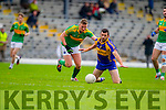 Denis Daly South Kerry in Action against Flor O'Sullivan Kenmare in the County Senior Football Semi Final at Fitzgerald Stadium Killarney on Sunday.