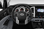 Car pictures of steering wheel view of a 2015 Toyota Tacoma TRD Pro 4 Door Pickup Steering Wheel