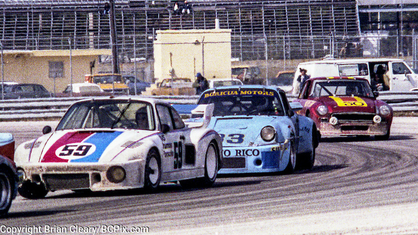 #59 Porsche 935 of Brad Frisselle, Claude Ballot-Léna, and Peter Gregg 9th place finish 1978 24 Hours of Daytona, Daytona International Speedway, Daytona Beach, FL, February 5, 1978.  (Photo by Brian Cleary/www.bcpix.com)