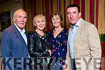 Weeshie Fogarty, Sinead Spain, Joan Fogarty and Pascal Sheehy at Donal Hickey retirement party in the Plaza Hotel on saturday night