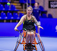 Rotterdam, Netherlands, December 13, 2017, Topsportcentrum, Ned. Loterij NK Tennis, Wheelchair Michaela Spaanstra (NED)<br /> Photo: Tennisimages/Henk Koster