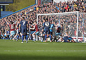 02/05/16 Sky Bet League Championship  Burnley v QPR<br /> David Jones header ruled out for a foul