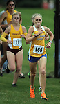 BROOKINGS, SD - OCTOBER 4:  Cheyanne Bowers from South Dakota State University closes in to the finish of the 2013 Jackrabbit Invitational Cross Country Meet Friday at Edgebrook Golf Course. (Photo by Dave Eggen/Inertia)