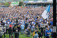 A pitch invasion after the Sky Bet League 2 match between Bristol Rovers and Dagenham and Redbridge at the Memorial Stadium, Bristol, England on 7 May 2016. Photo by Mark  Hawkins / PRiME Media Images.