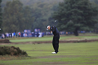Haotong Li (CHN) on the 2nd fairway during Round 4 of the Sky Sports British Masters at Walton Heath Golf Club in Tadworth, Surrey, England on Sunday 14th Oct 2018.<br /> Picture:  Thos Caffrey | Golffile<br /> <br /> All photo usage must carry mandatory copyright credit (&copy; Golffile | Thos Caffrey)